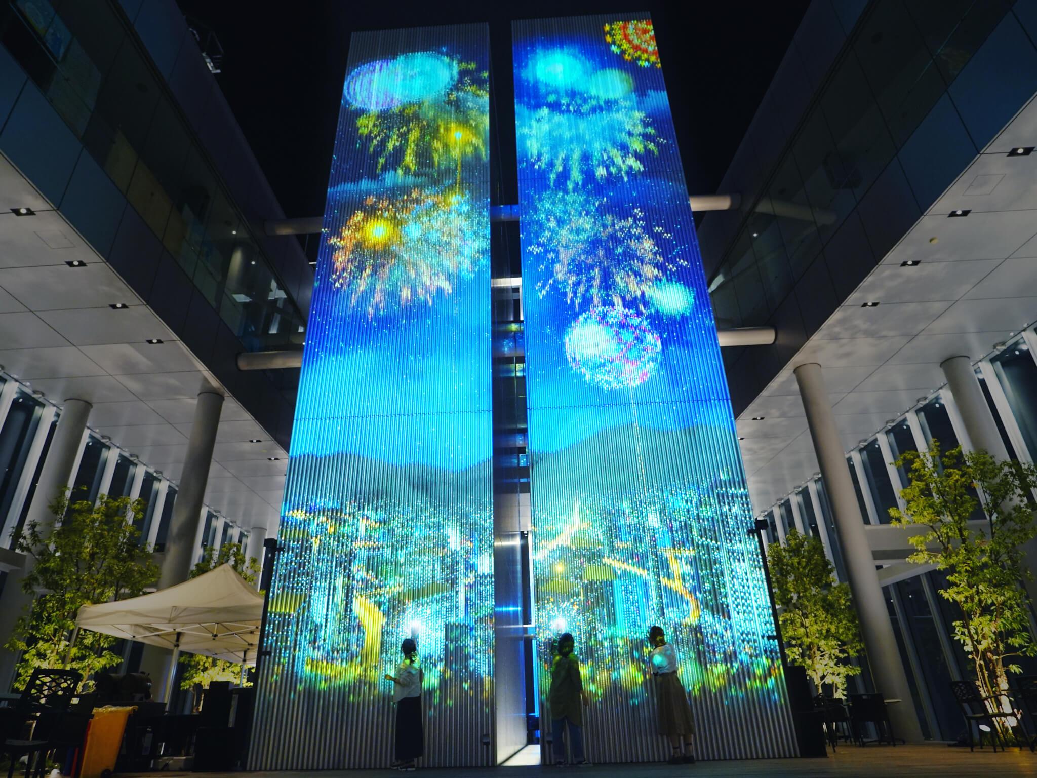 あべのハルカス ハルカス300(展望台) 58階 天空庭園「天空花火 -FIREWORKS BY NAKED-」