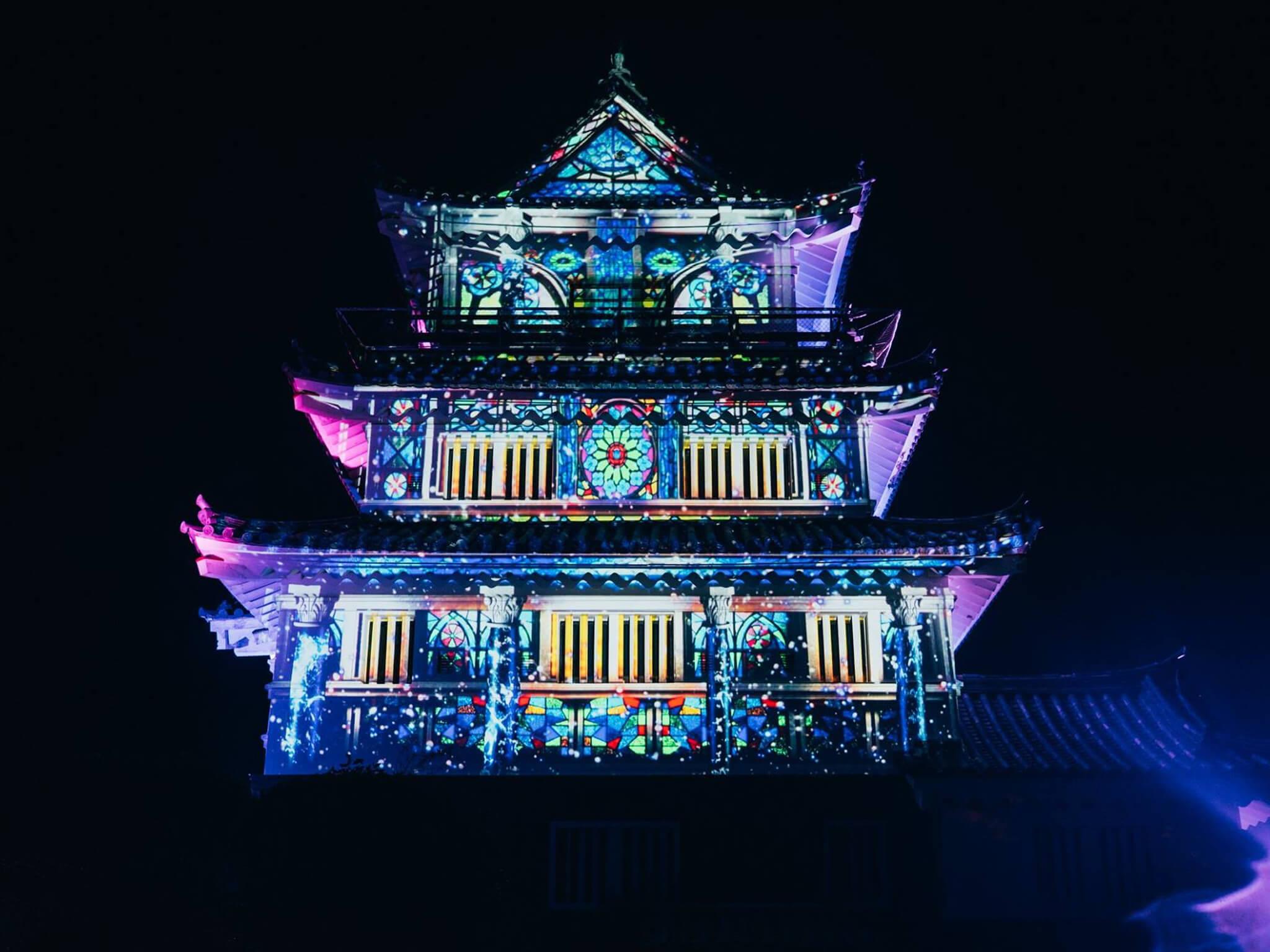 平戸城「平戸、海のものがたり 〜平戸城再築城300周年記念事業〜 光と音が織りなす幻想祭」