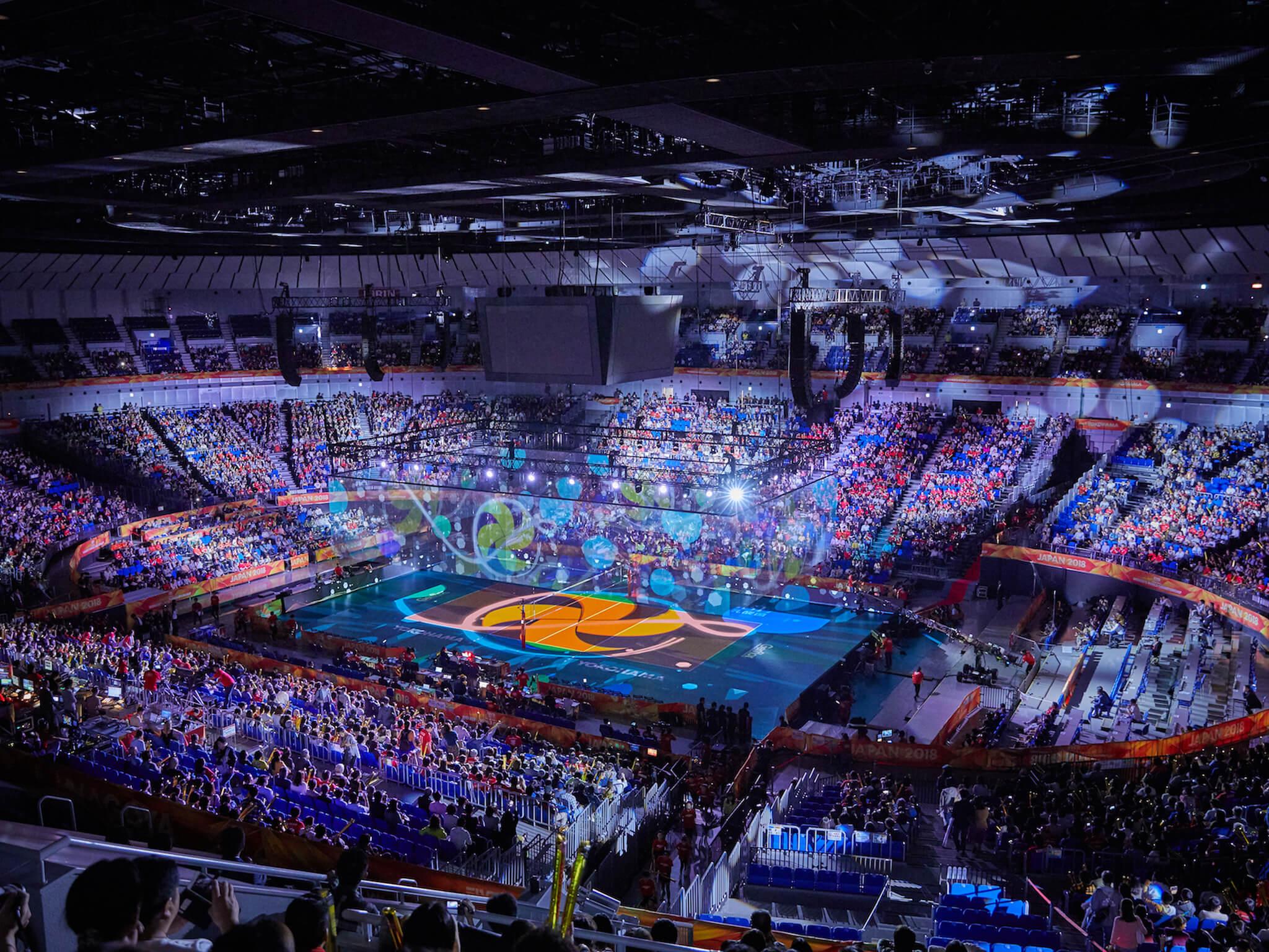横浜アリーナ「2018世界バレー 女子大会」開幕セレモニーを演出