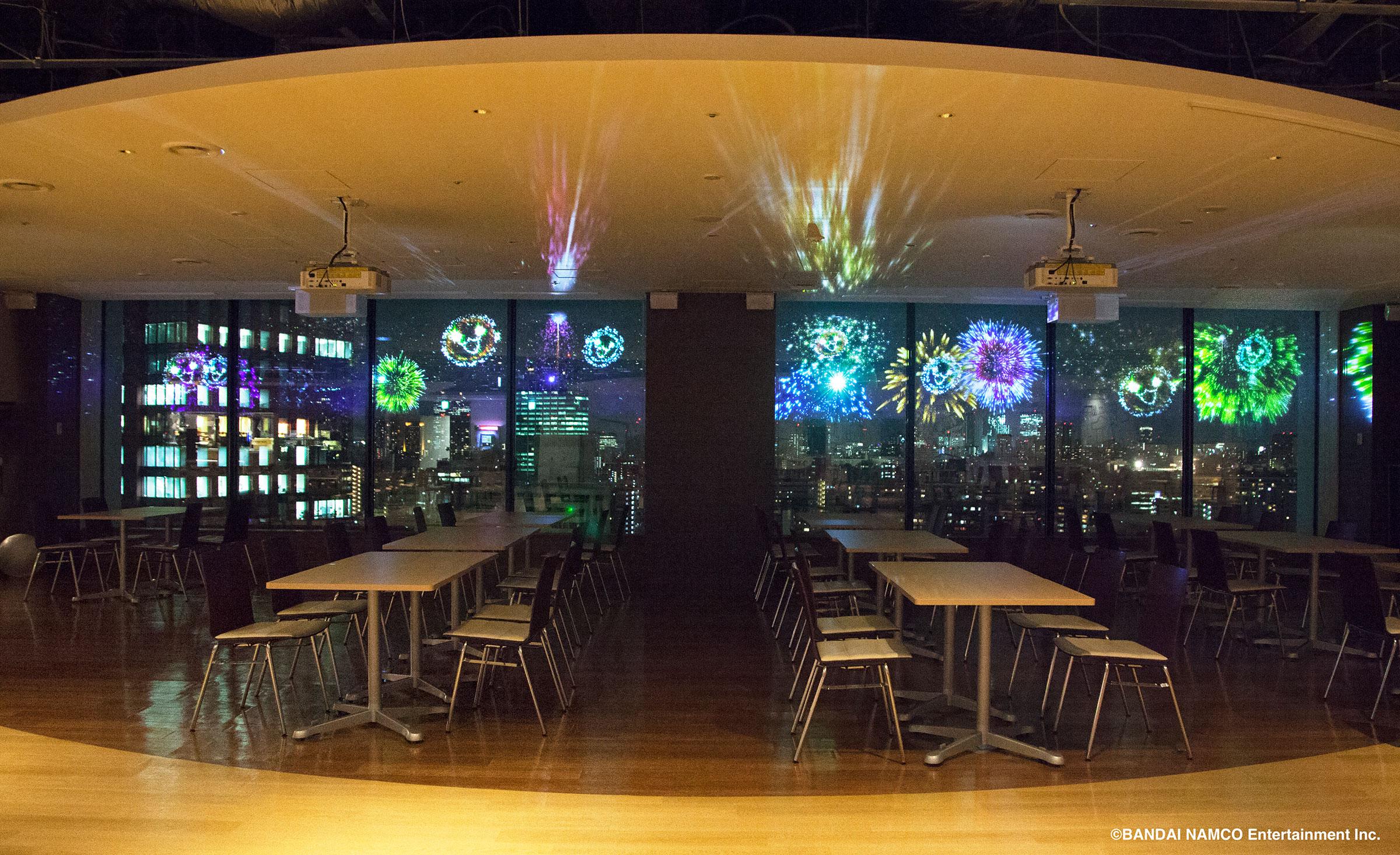株式会社バンダイナムコエンターテインメント バンダイナムコ未来研究所 飲食スペースを演出