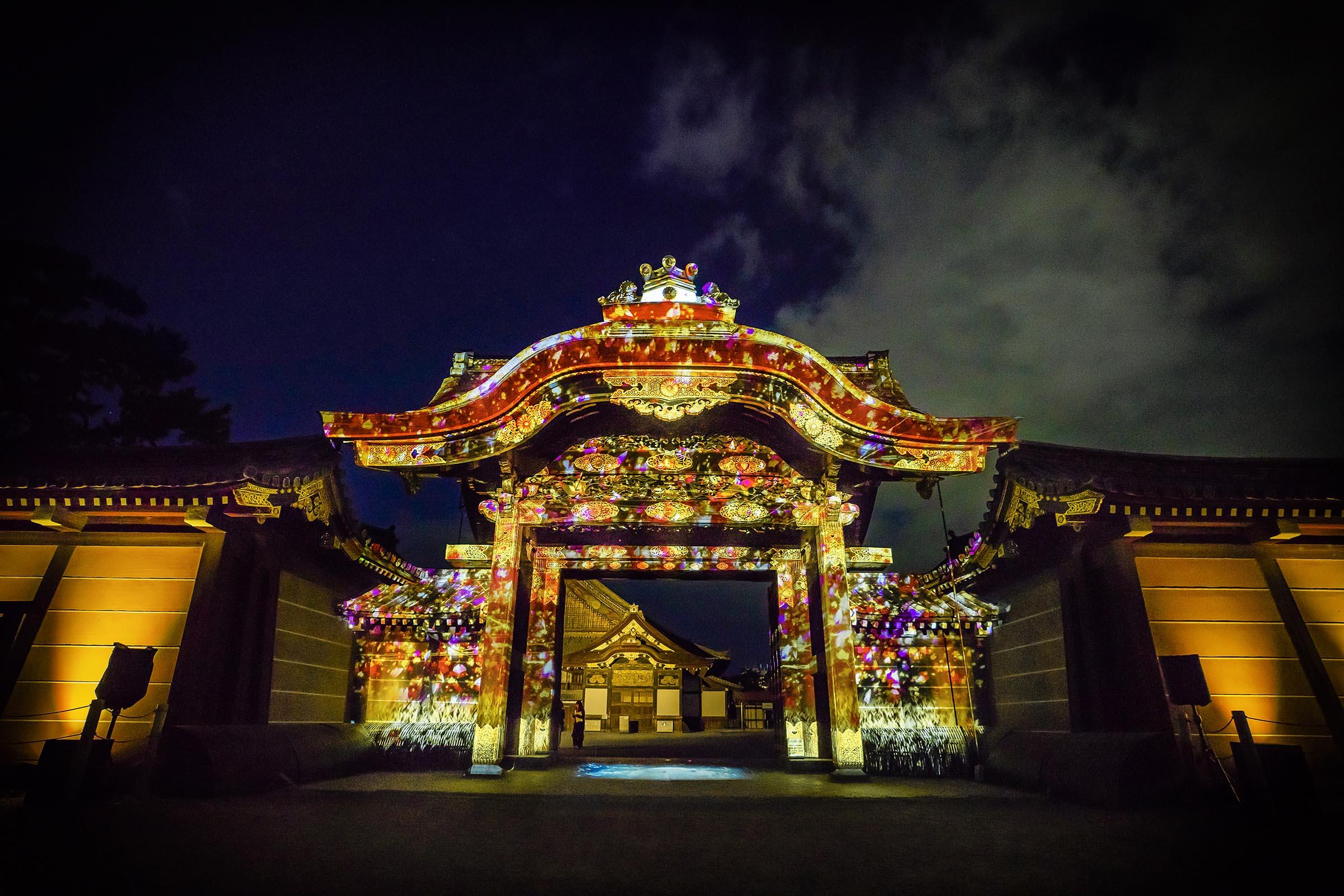 世界遺産 二条城「秋季特別ライトアップ FLOWERS BY NAKED 2018 ー京都・二条城ー」