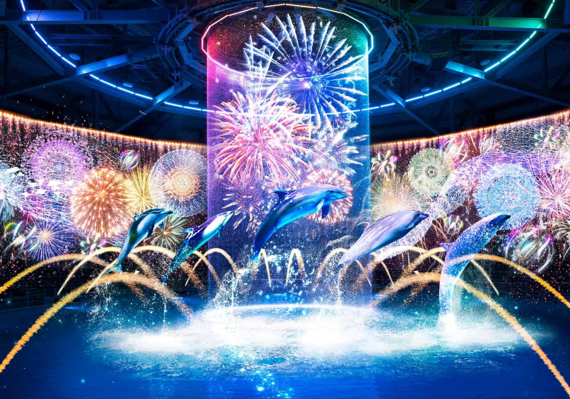 ドルフィンパフォーマンス ナイトver.「瑠璃花火-Digital Fireworks-」