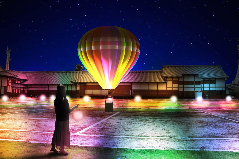 インタラクティブコンテンツ『Balloon Lightup show』(佐賀城公園)
