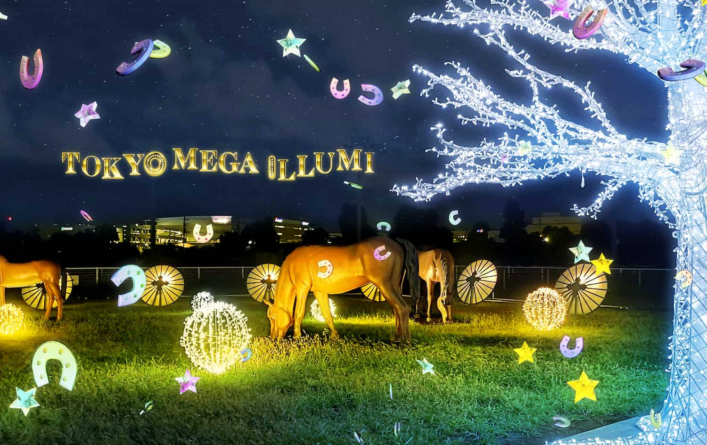 WebAR イルミネーション,エリア限定:光と遊ぶ大樹/芝生広場